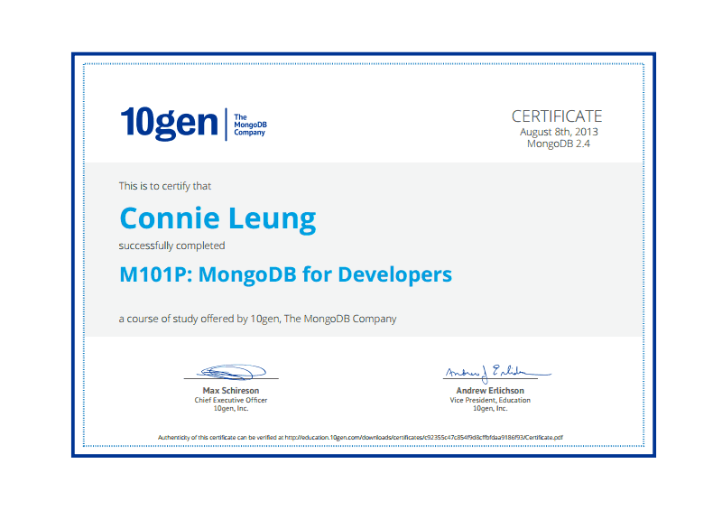 M010P: MongoDB for Developers